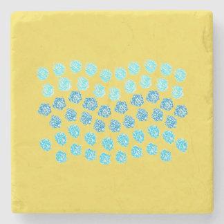 Blue Waves Marble Stone Coaster