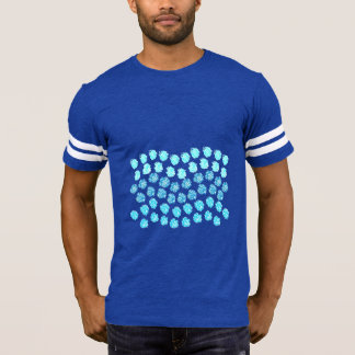 Blue Waves Men's Football T-Shirt