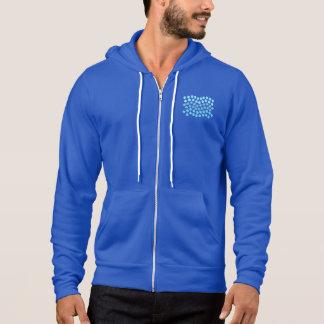 Blue Waves Men's Full-Zip Hoodie