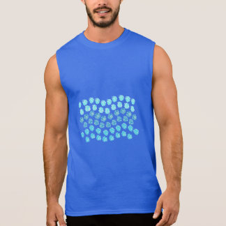 Blue Waves Men's Sleeveless T-Shirt