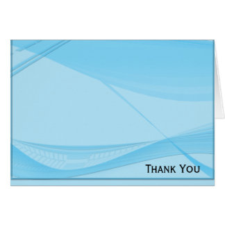 Blue Waves Note Card