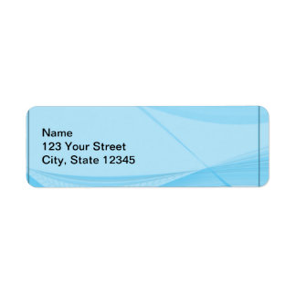 Blue Waves Return Address Label