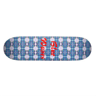 Blue Waves Skate Board