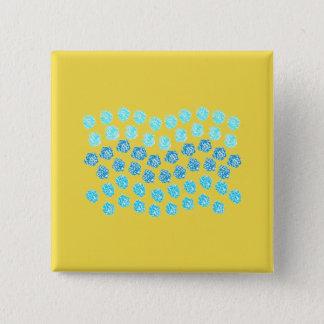 Blue Waves Square Button