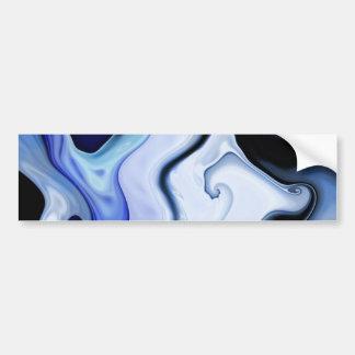 Blue Waves Sticker Bumper Sticker