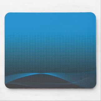 blue wavy halftone mouse mat