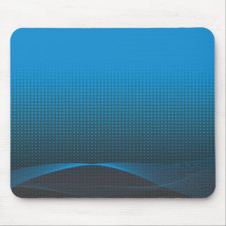 blue wavy halftone mouse pad