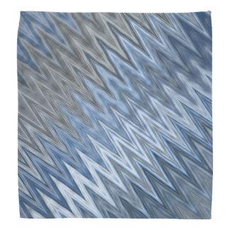 Blue Wavy Pattern Bandana