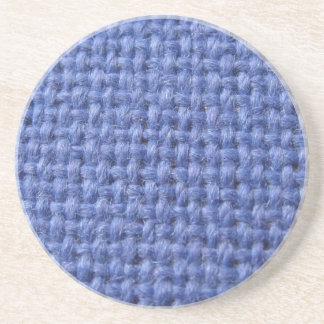 Blue weaved texture coaster
