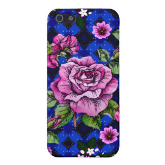Blue Weaving Pink Roses iPhone 5 Case