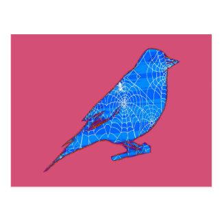 Blue Web Bird Postcard