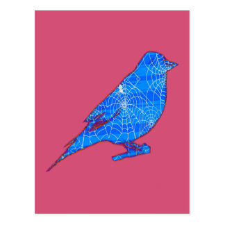 Blue Web Bird Postcard