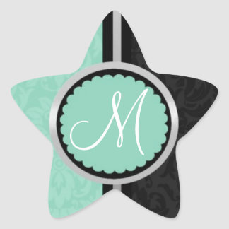 Blue Wedding Invitation Envelope Seals Star Sticker