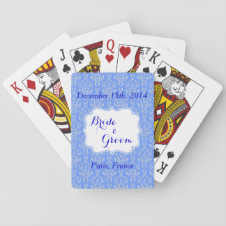 Blue Wedding Party Favor Playing Cards