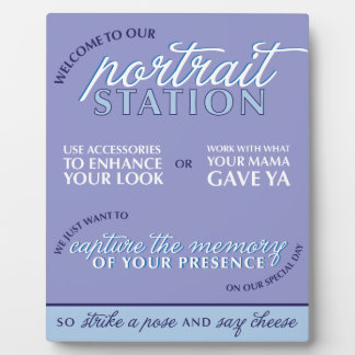 Blue Wedding Photo Booth Sign Plaque