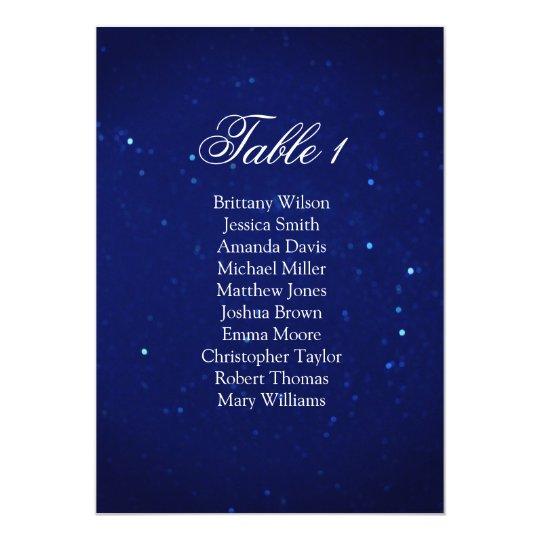 Blue wedding seating chart. Navy night table plan