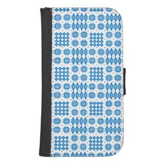 Blue Welsh Tapestry Pattern Smartphone Wallet Case