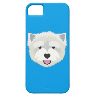 Blue West Highland Terrier iPhone 5 Cases
