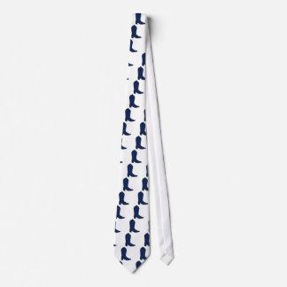 Blue Western Boot Tie