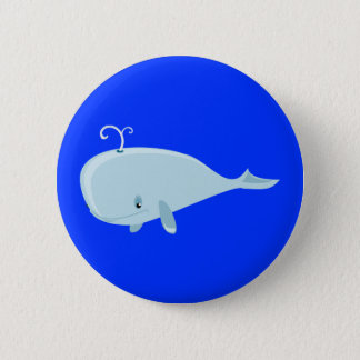 Blue Whale 6 Cm Round Badge