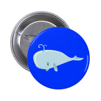 Blue Whale 6 Cm Round Badge