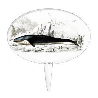 Blue Whale #8 Whaling scene Gift for him Cake Pick