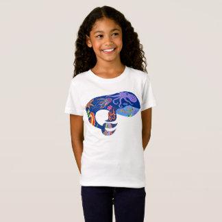 Blue whale, bright marine design, cute whale, fish T-Shirt