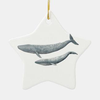 Blue whale christmas ornament
