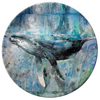 Blue Whale Collection Porcelain Plate