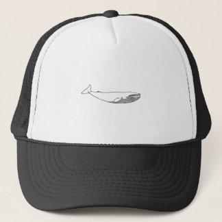 Blue Whale Illustration (line art) Trucker Hat