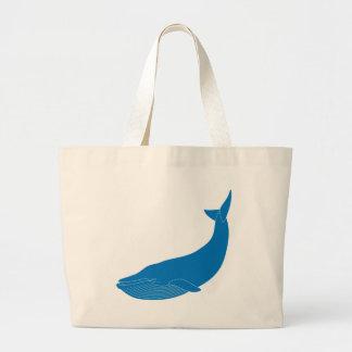 Blue Whale Marine Mammals Wildlife Oceans Large Tote Bag
