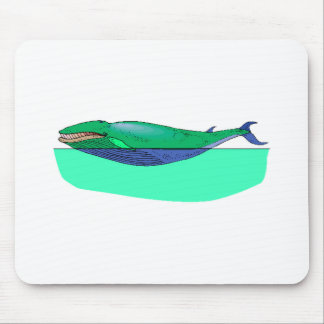 Blue Whale Mouse Pads