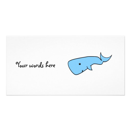 Blue whale personalized photo card