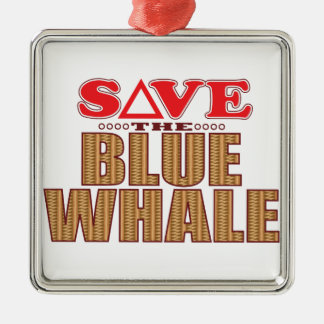 Blue Whale Save Christmas Ornament