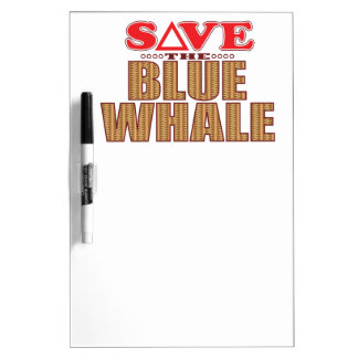 Blue Whale Save Dry Erase Board