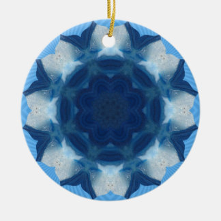"Blue ""Whale Tail"" Pattern! Christmas Ornament"