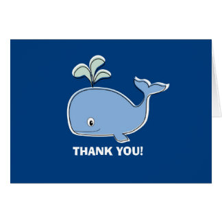 Blue Whale Thank You Card