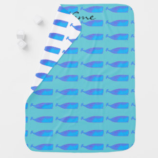 blue whales baby blanket