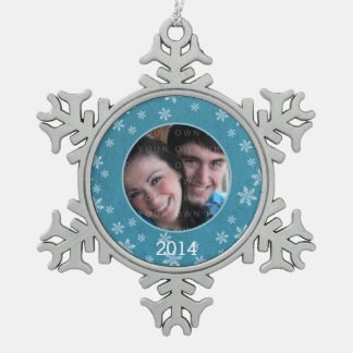 Blue Whimsical Snowflakes Snowflake Ornament