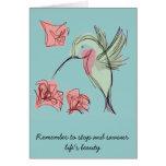 Blue Whimsy Hummingbird