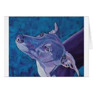 Blue Whippet Greeting Card
