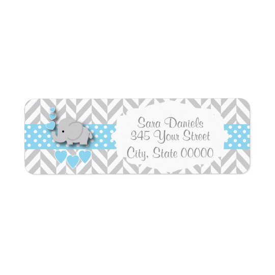 Blue, White and Grey Elephant Baby Shower