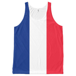Blue White and Red French Flag All-Over Tank Top All-Over Print Tank Top