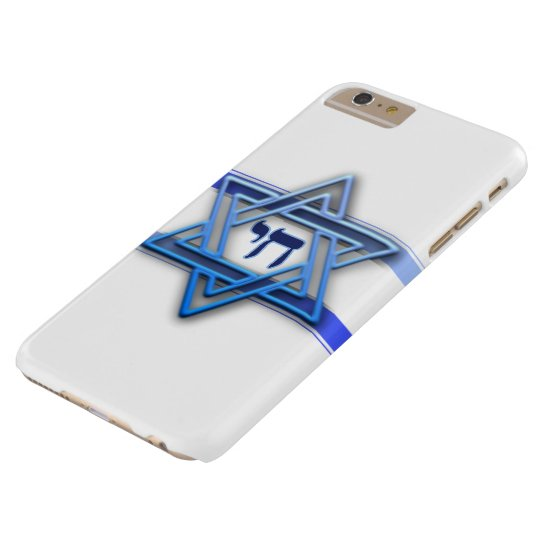 Blue White and The Star of David Barely There iPhone 6 Plus Case