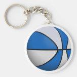 Blue & White Basketball: Key Chains