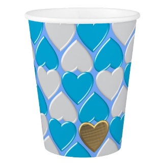 Blue, white Bavarian pattern. Paper Cup
