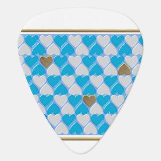 Blue, white Bavarian pattern. Plectrum