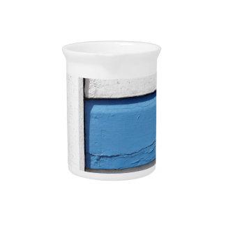Blue & White Beach Huts Pattern Pitcher