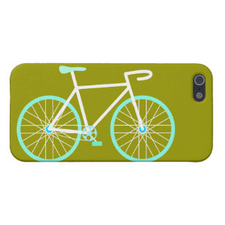 Blue & White Bicycle iPhone 5 Case