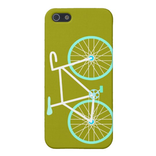 Blue & White Bicycle iPhone 5 Covers
